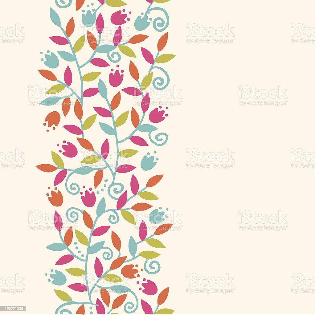 Colorful branches vertical seamless pattern royalty-free stock vector art
