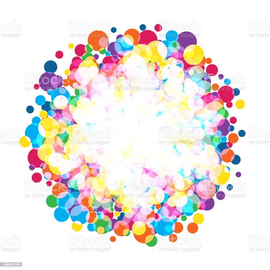 colorful  bright circles