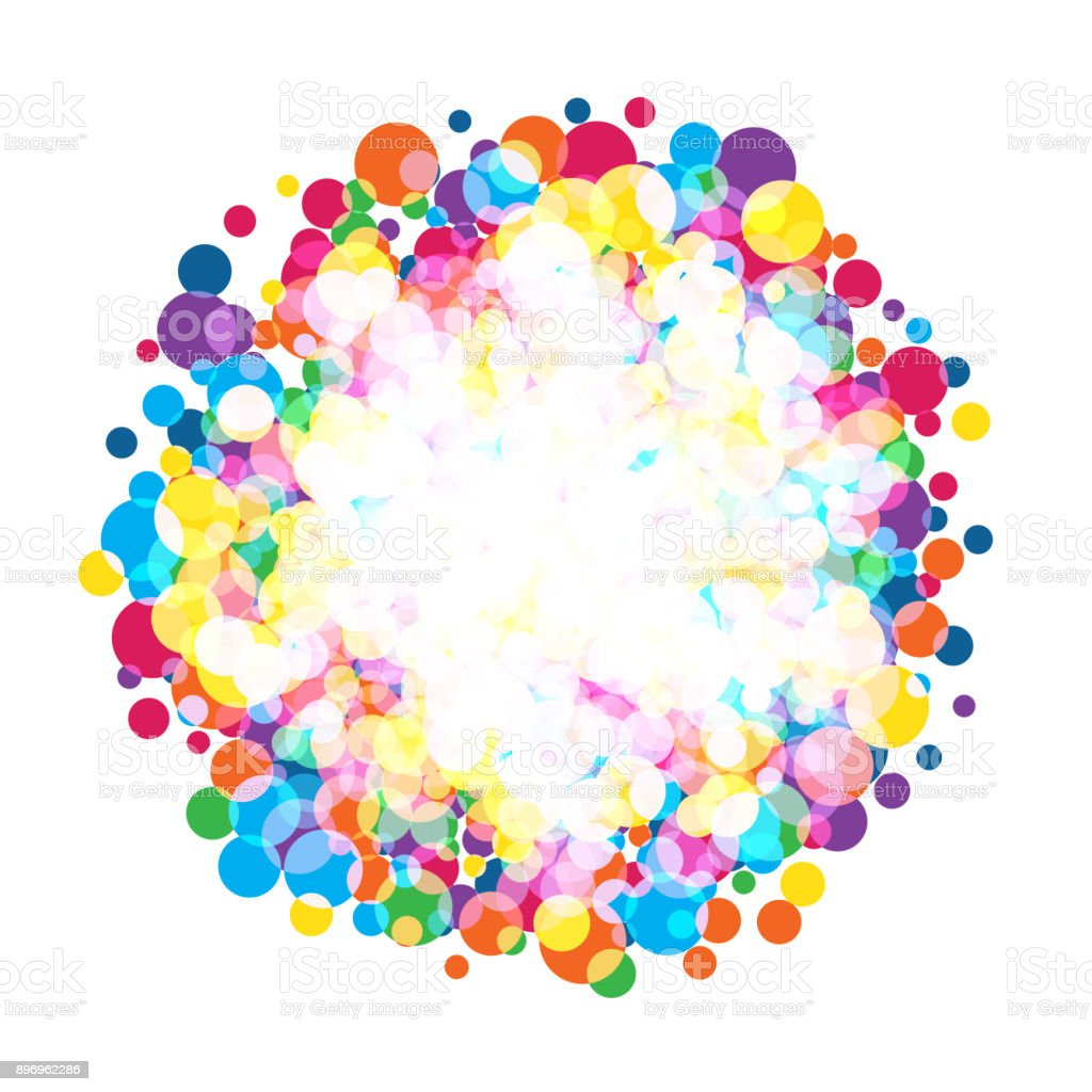 colorful  bright circles vector art illustration