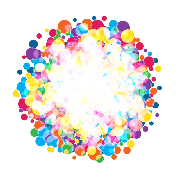 colorful  bright circles - multi colored stock illustrations, clip art, cartoons, & icons