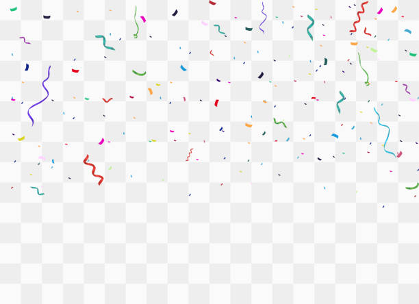 colorful bright confetti - streamer stock illustrations, clip art, cartoons, & icons