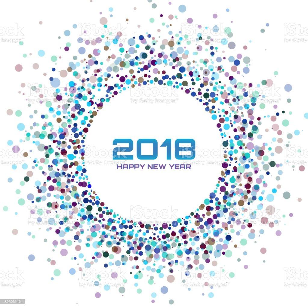 Ilustración de Colorido Brillante Año Nuevo 2017 Marco Fondo Que ...