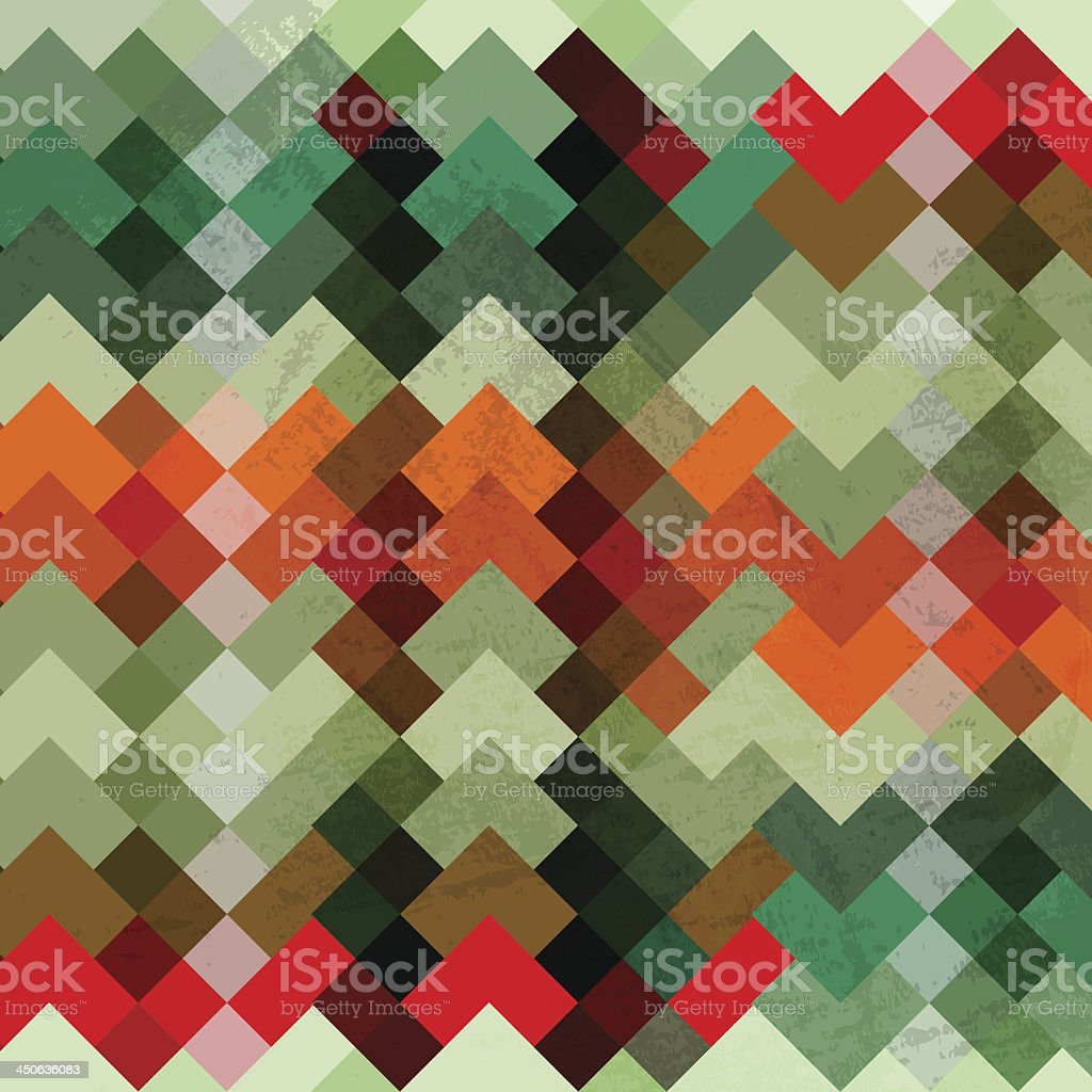 Colorful bright square mosaic background royalty-free stock vector art