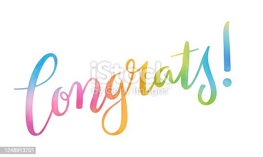 istock CONGRATS! colorful brush calligraphy banner 1248913701