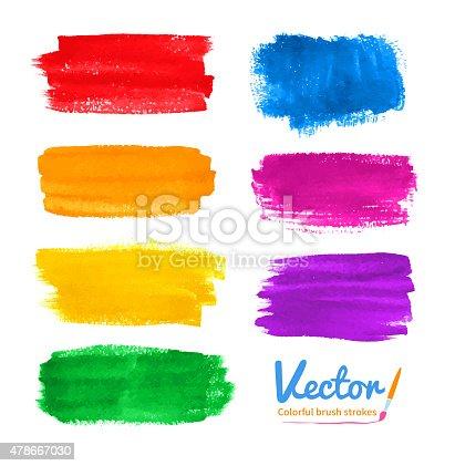 istock Colorful brush strokes. 478667030
