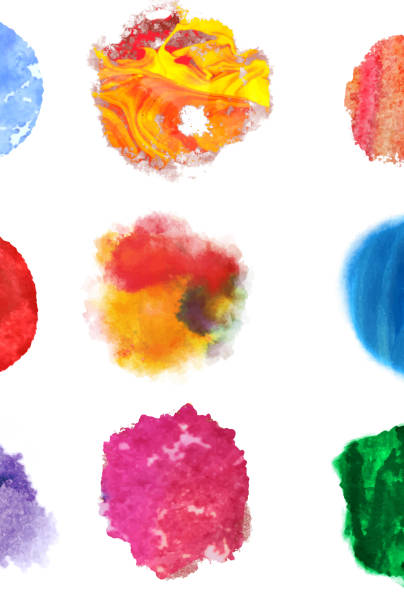 ilustrações, clipart, desenhos animados e ícones de colorido pinceladas - planos de fundo borrados