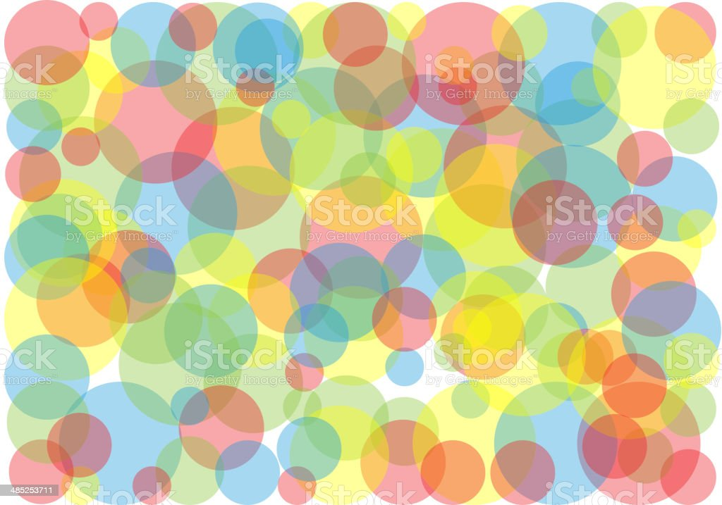 colorful bubbles vector art illustration