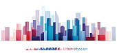 Vector Design - eps10 Colorful Building and City, Urban cityscape, Abstract of city image, The image twilight in city.