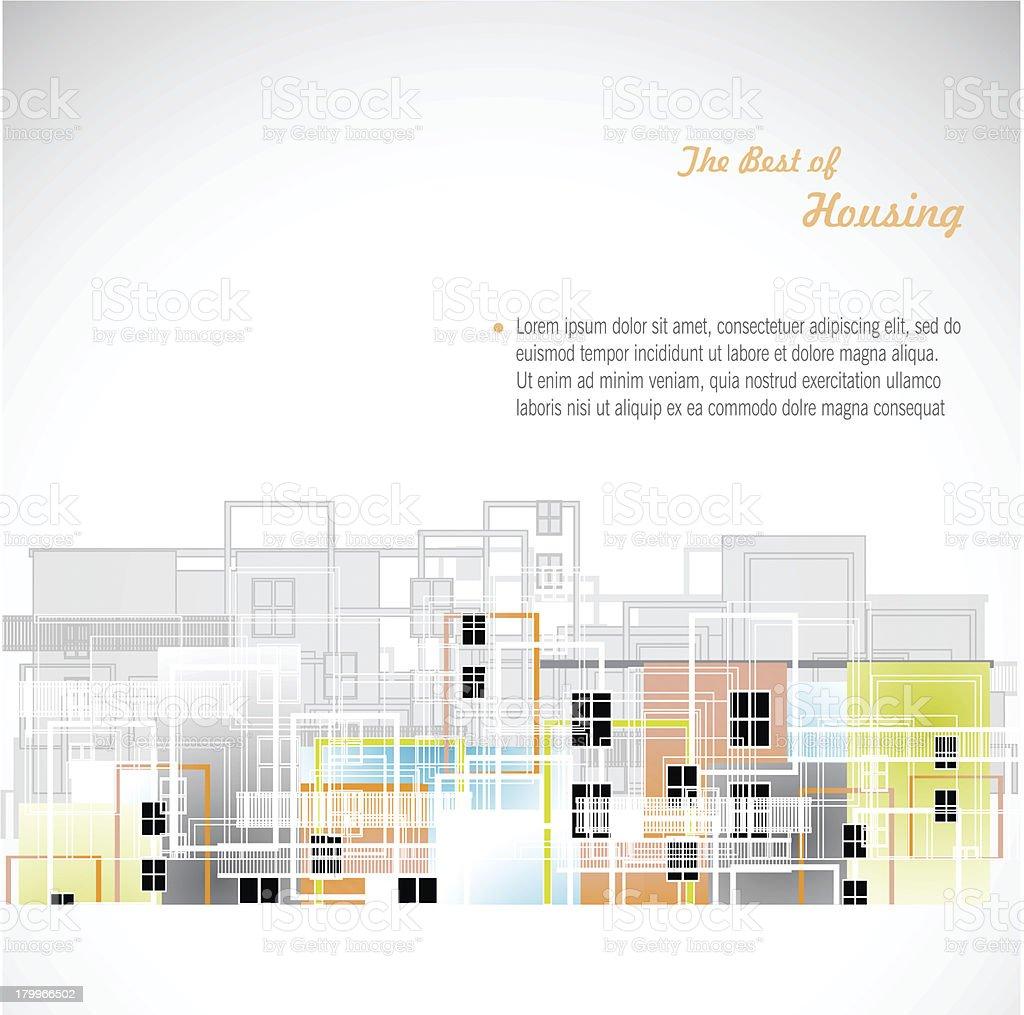 Colorful buildings design vector. vector art illustration
