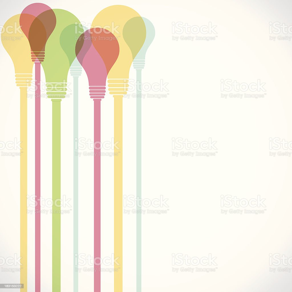 colorful bulb background royalty-free stock vector art