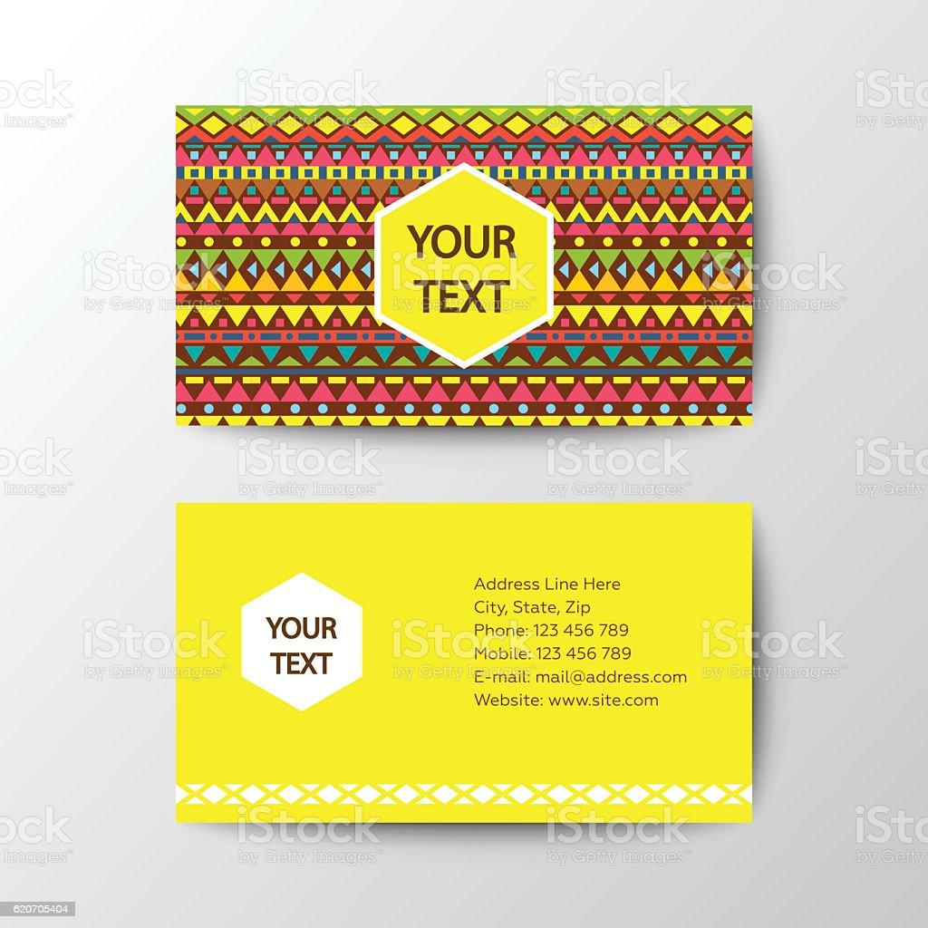 Colorful Business Card Template stock vector art 620705404 | iStock