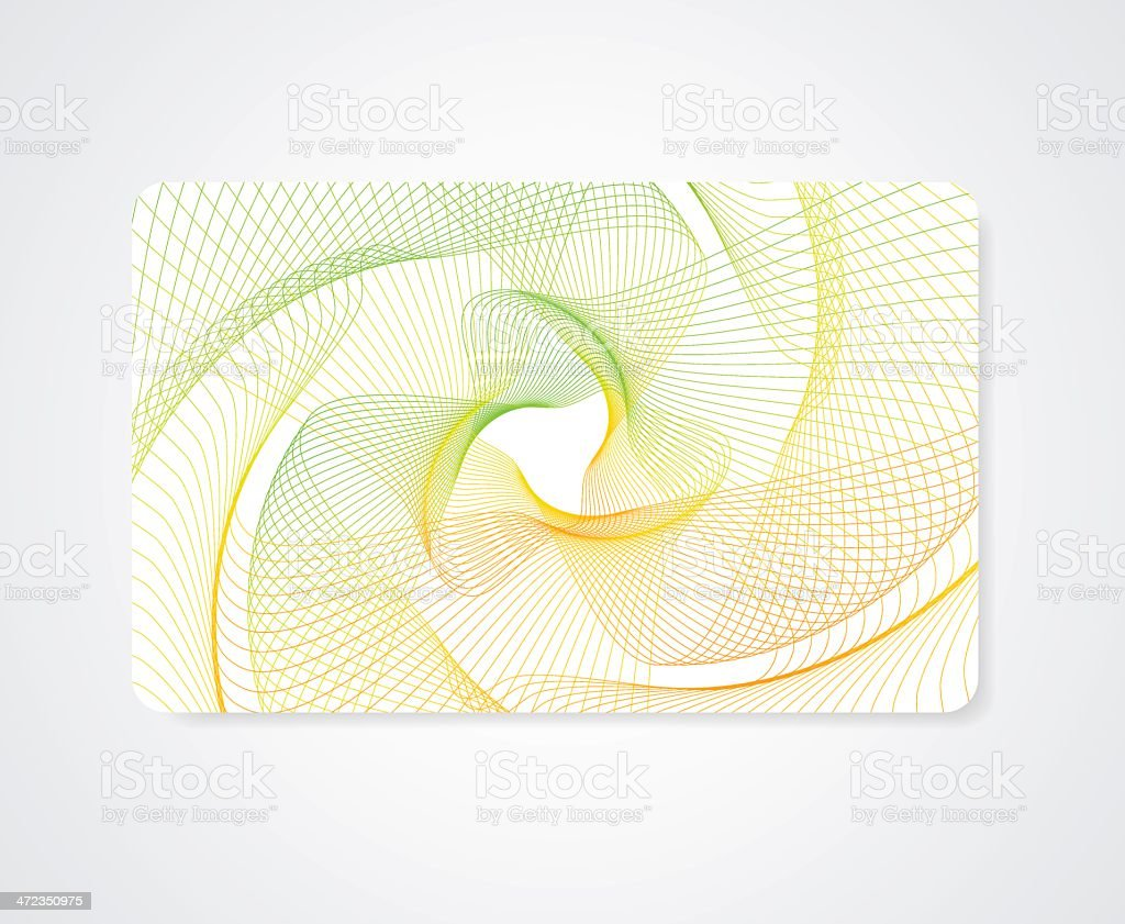 Colorful Business / Gift card template with abstract bright guilloche pattern vector art illustration