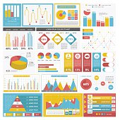 Illustration of a colorful variety of business graphs