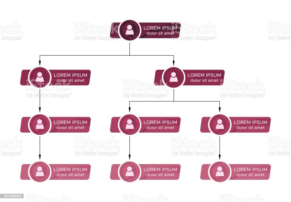 Bunte Struktur Geschäftskonzept Unternehmensorganisation Diagramm ...
