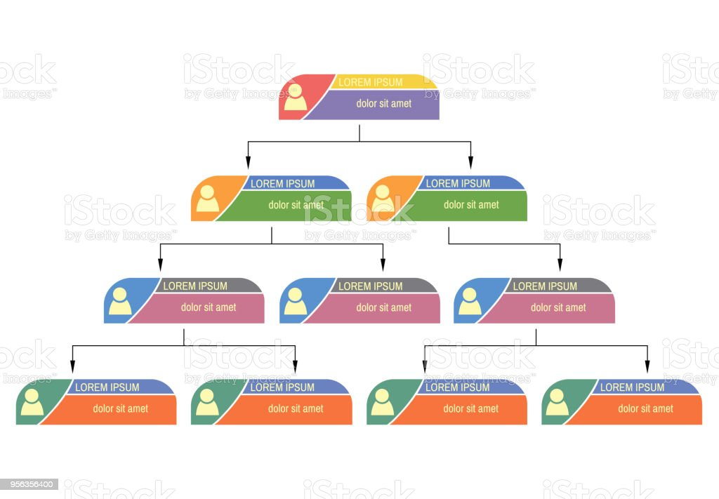 colorful business structure concept corporate organization chart