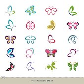 20 Colorful Butterfly Vector logo Template Illustration Design. Vector EPS 10.