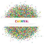Colorful carnival confetti greeting card