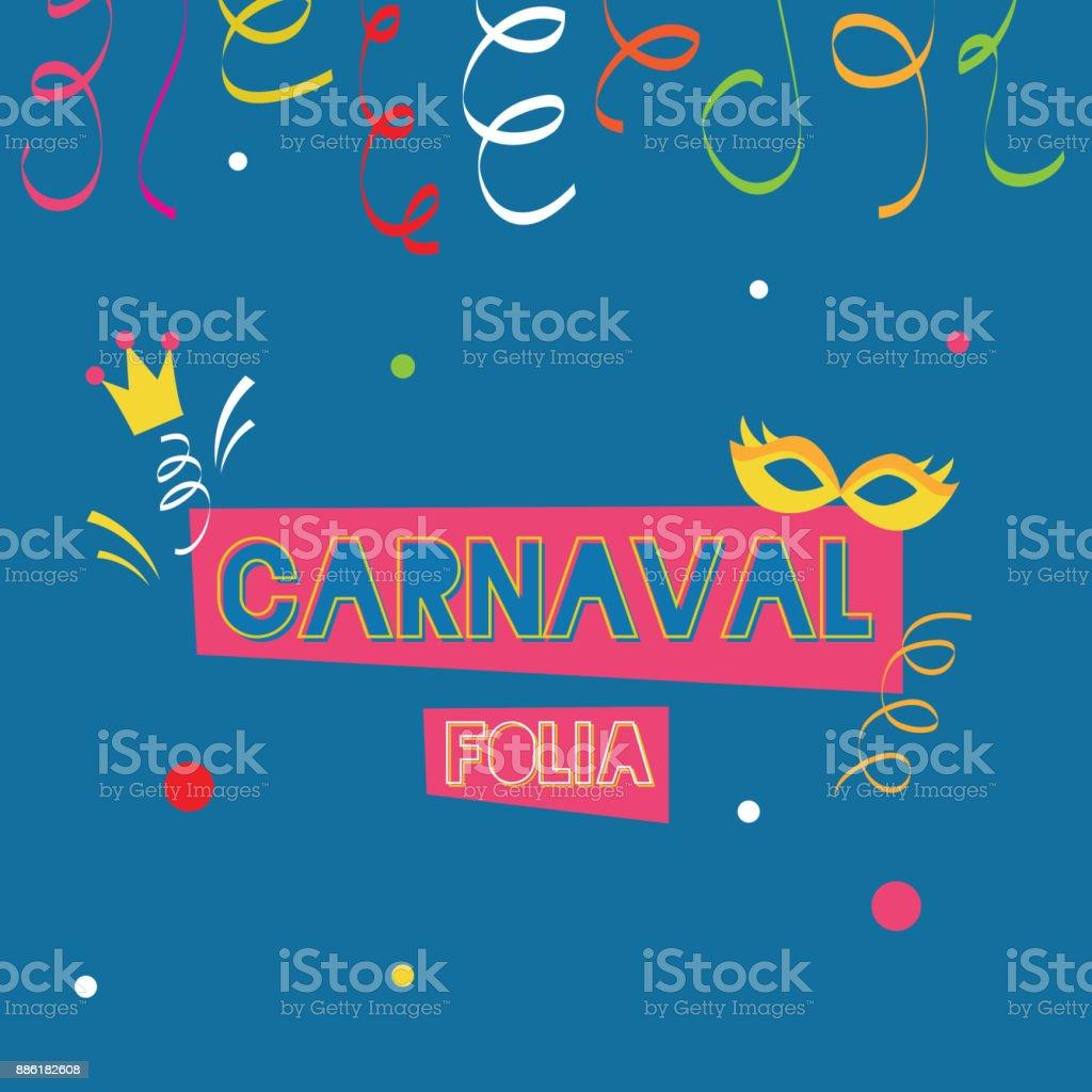 Fondo de plantilla, azul carnaval colorido partido cartel - ilustración de arte vectorial