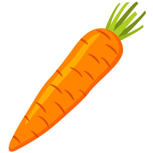 ilustrações de stock, clip art, desenhos animados e ícones de colorful cartoon carrot icon. - cenoura