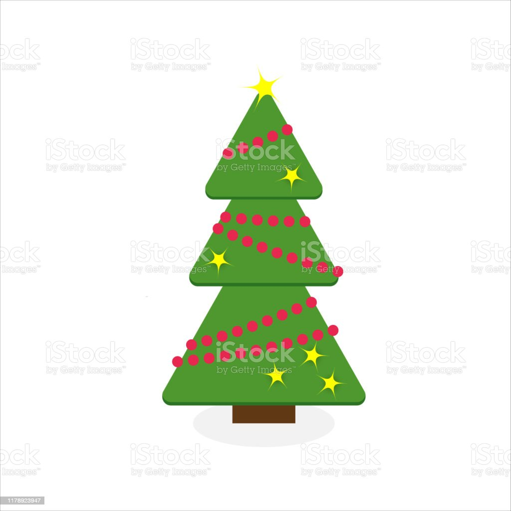 Vetores De Arvore De Natal Colorida Dos Desenhos Animados Projeto