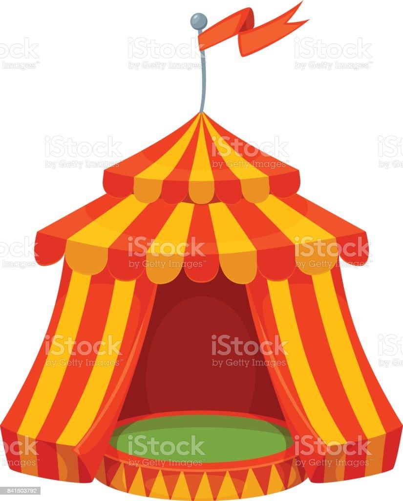 Vetores De Ilustracao De Tenda De Circo Colorido Dos Desenhos