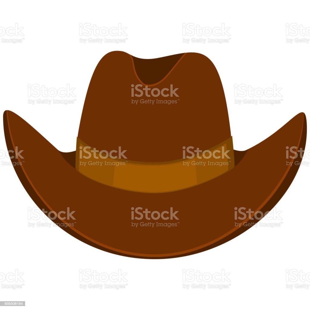 Sombrero de vaquero de dibujos animados coloridos ilustración de sombrero  de vaquero de dibujos animados coloridos 29a9c12dc038