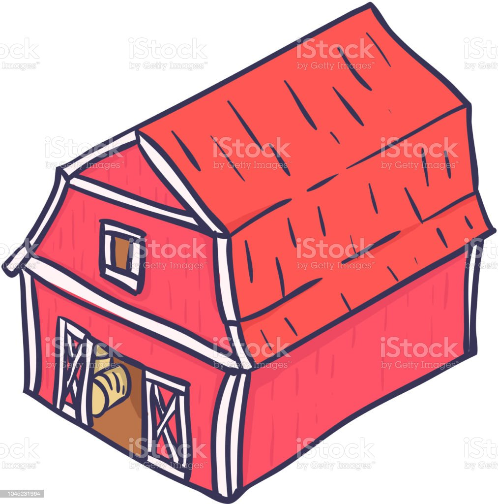 colorful cartoon farm barn hand drawn vector stock vector art more