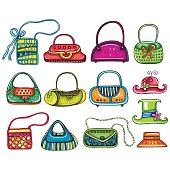 Colorful Cartoon Fashion Woman Bags.