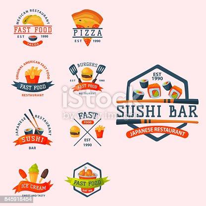 ᐈ Imagen De Logo De Dibujos Animados Coloridos Comida Rápida