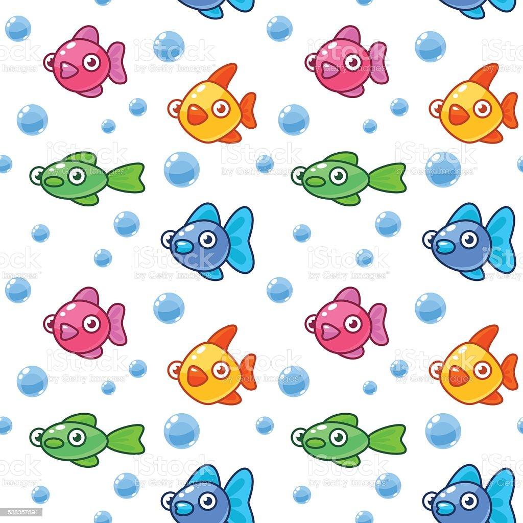 Poisson dessin anim de couleur et des bulles vecteurs libres de droits et plus d 39 images - Poisson dessin couleur ...