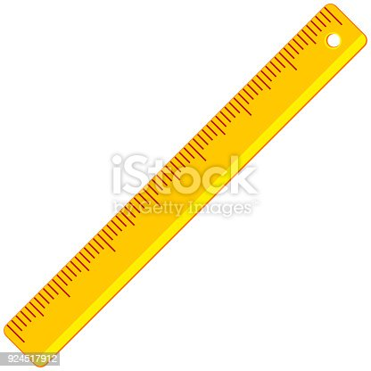 istock Colorful cartoon icon poster ruler 924517912