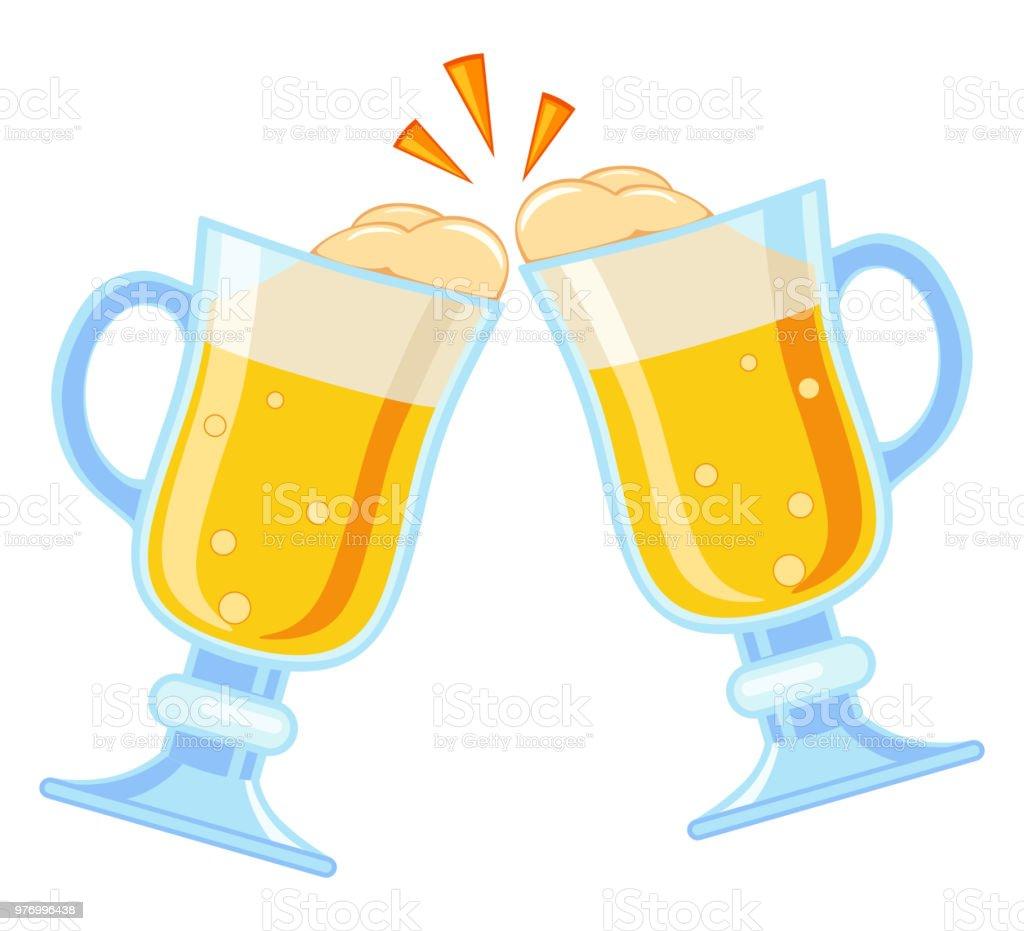 ilustração de copo de cerveja chique colorido dos desenhos animados