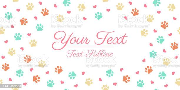 Colorful cat or dog paw print greeting card layout vector id1141958270?b=1&k=6&m=1141958270&s=612x612&h=yfum99 dl9qp gbb2o6sgr3xvhfwvns9i q8oioxou8=
