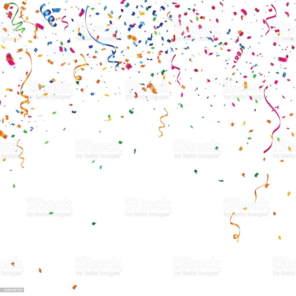 celebration background image colorful celebration background with confetti stock vector 3384