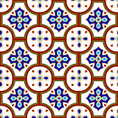 colorful ceramic pattern vector