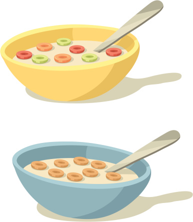 Colorful Cereal Bowls for Breakfast