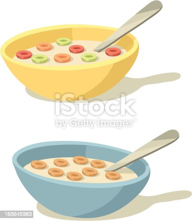 istock Colorful Cereal Bowls for Breakfast 165645983