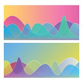 Vector illustration of a couple of colorful charts and graphs
