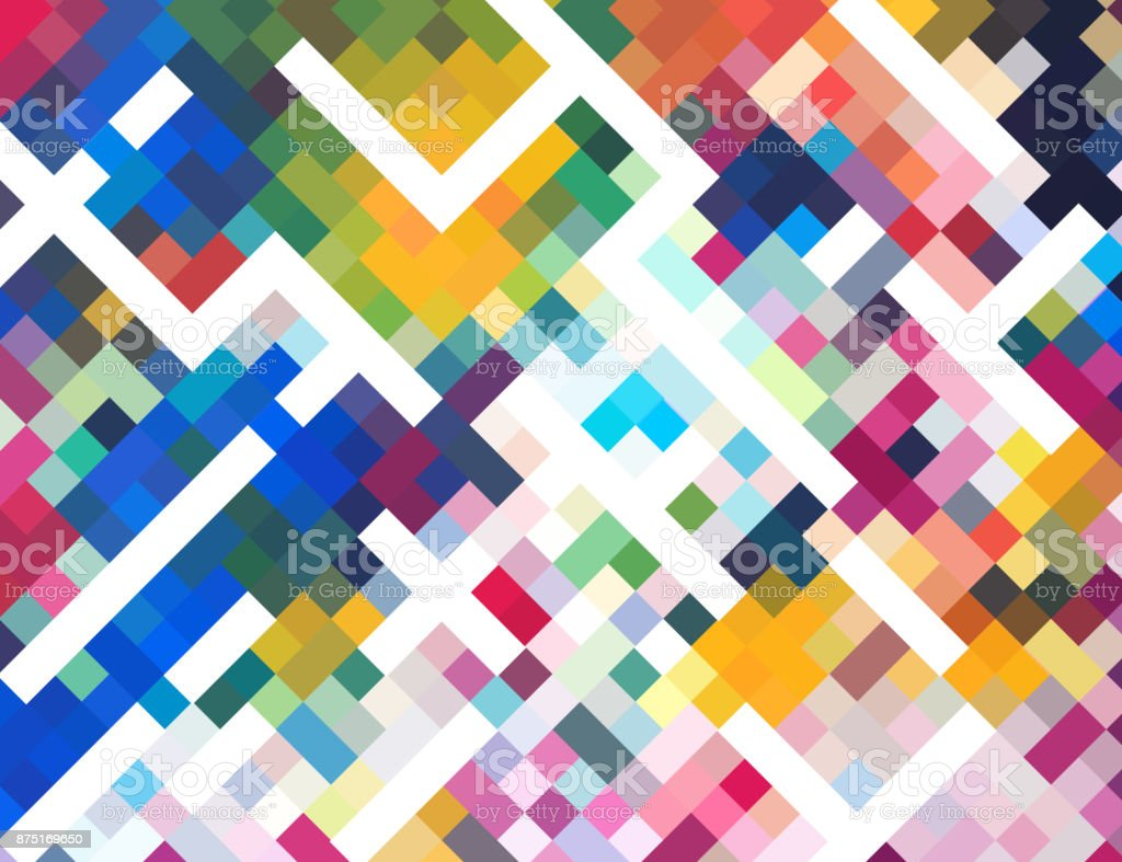 colorful check mosaic background vector art illustration