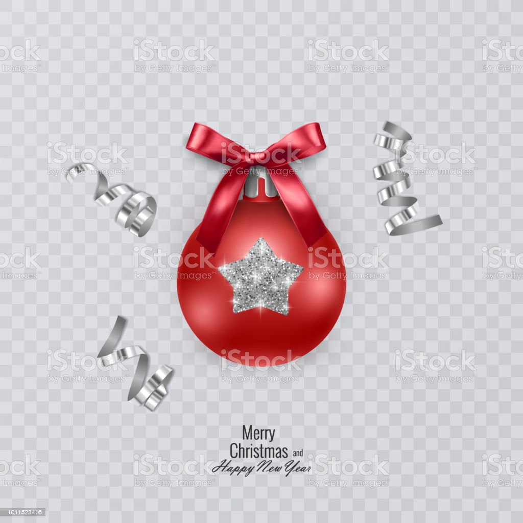 Colorful Christmas Ball On Transparent Background Vector Decorations Royalty Free