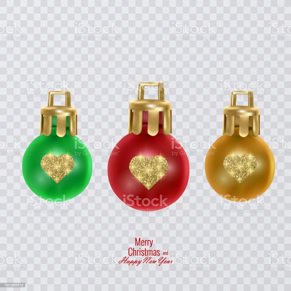 colorful christmas balls on transparent background vector christmas decorations royalty free colorful christmas balls