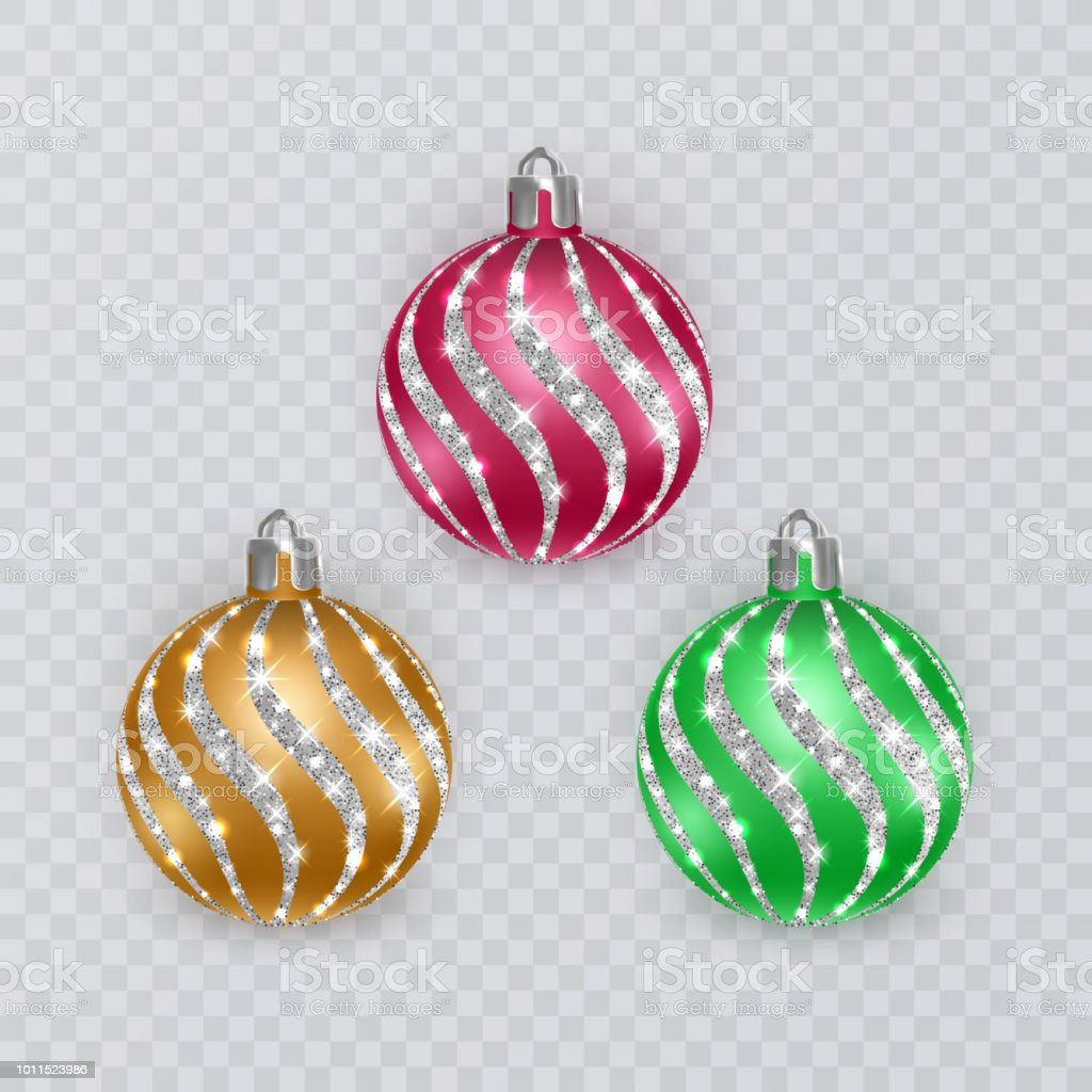 colorful christmas balls on transparent background vector christmas decorations royalty free colorful christmas balls - How To Decorate Christmas Balls
