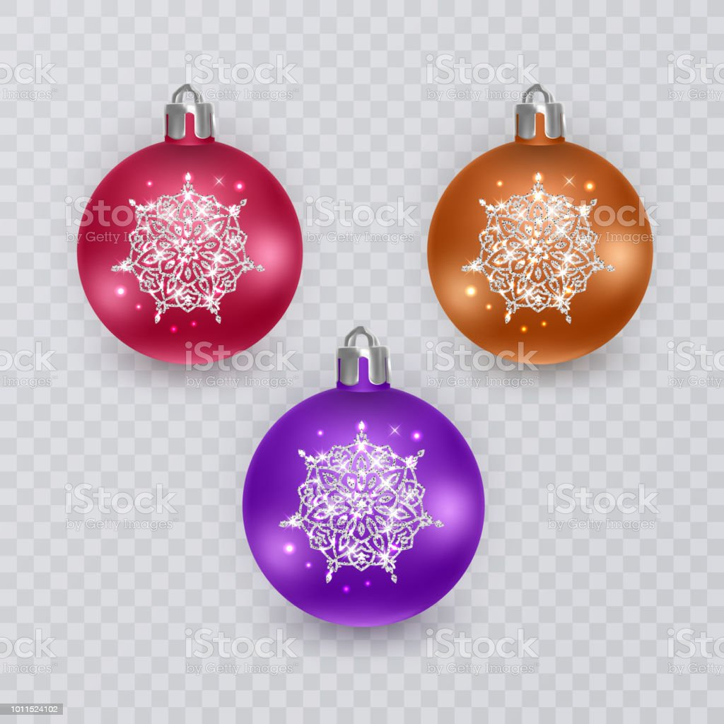 colorful christmas balls on transparent background vector christmas decorations royalty free colorful christmas balls - Colorful Christmas Decorations