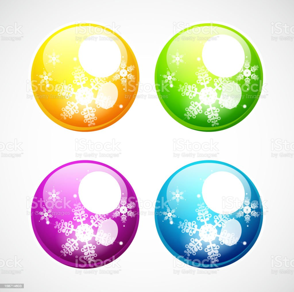 Colorful Christmas baubles royalty-free stock vector art