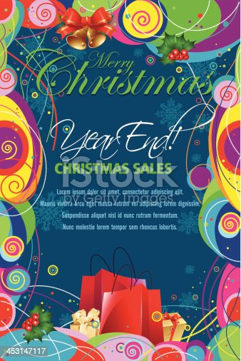 Colorful Christmas Sale Promotion Background