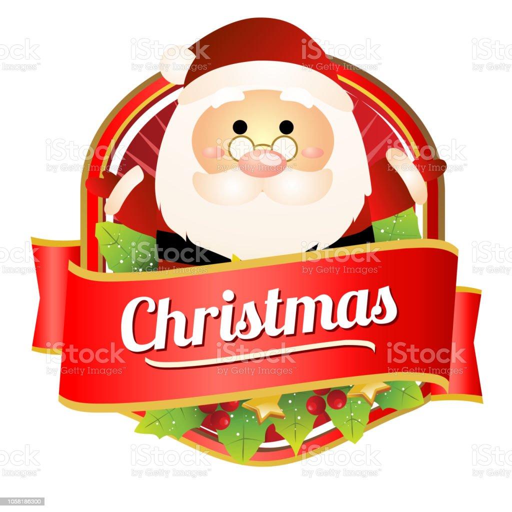 Vetores De Natal Colorido Dos Desenhos Animados Distintivo De