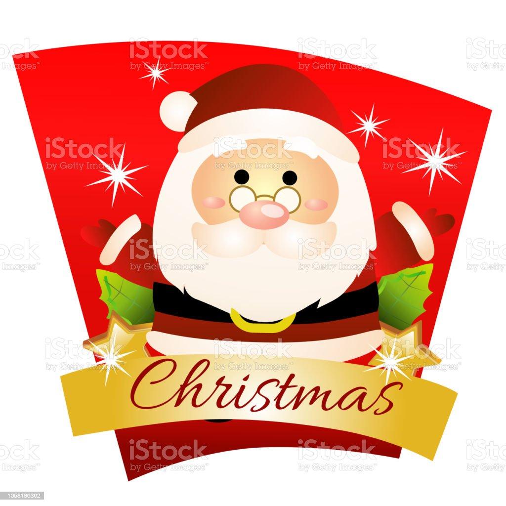 Vetores De Natal Colorido Com Desenhos Animados Tema De Papai Noel