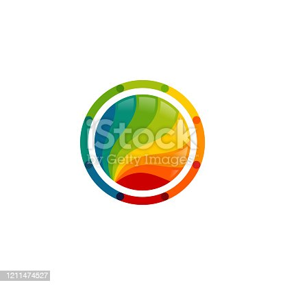 Colorful circle logo design template