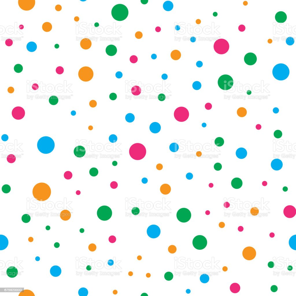 Colorful circle seamless pattern on white background vector art illustration