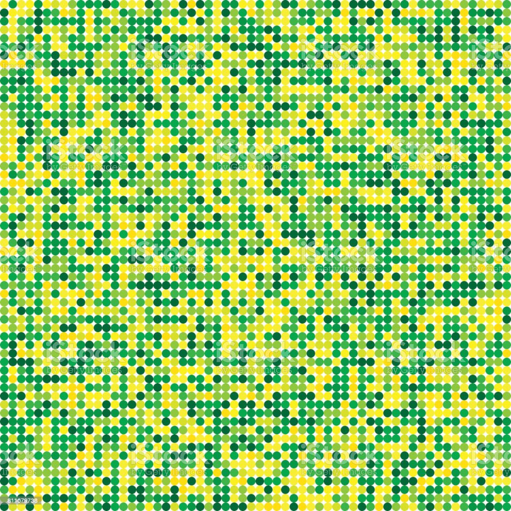 Colorful Circles seamless pattern. Yellow green Abstract geometric background vector art illustration